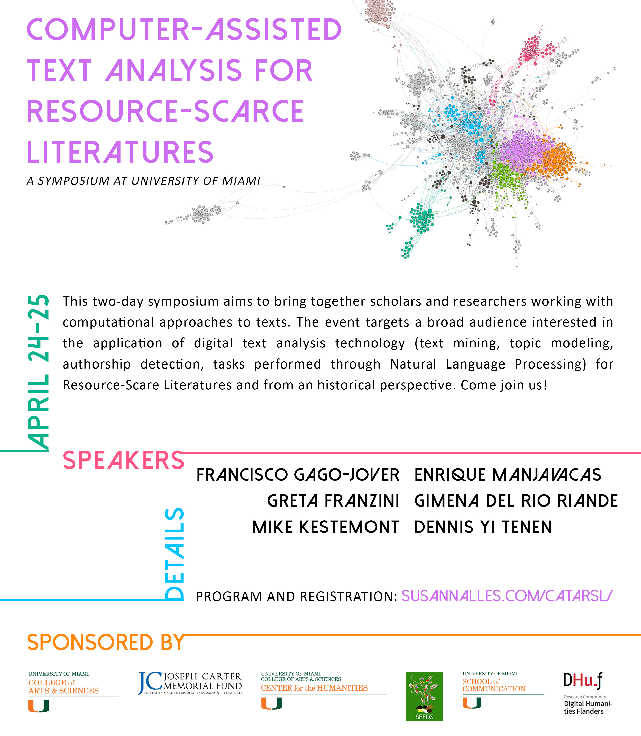 Computer-Assisted Text Analysis for Resource-scarce Literatures Symposium