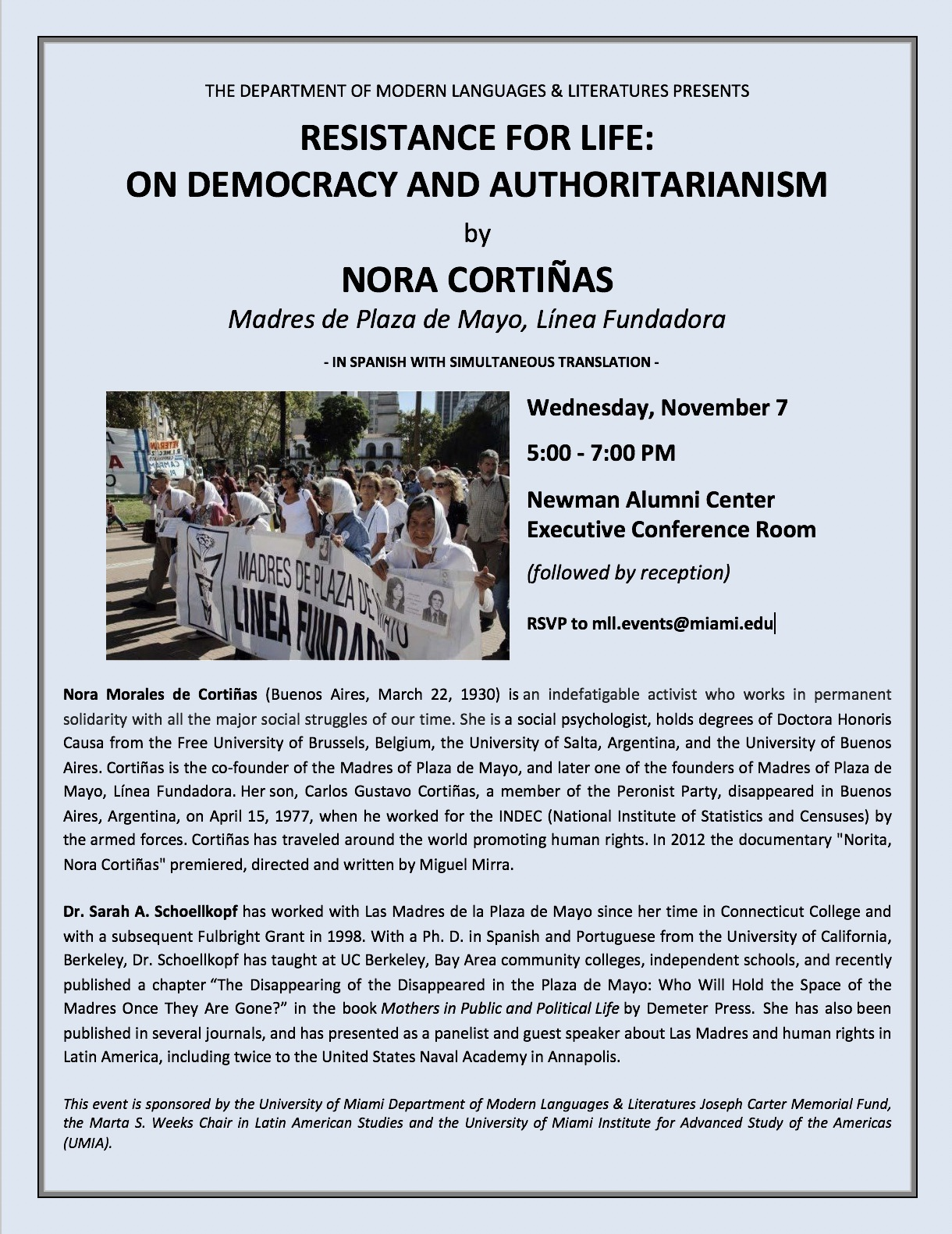 Resistance for Life: On Democracy and Authoritarianism by Nora Cortiñas
