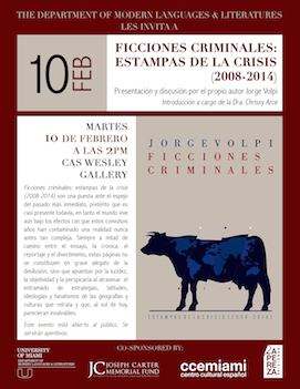 Jorge Volpi - Feb 10 Events